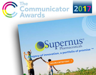 Supernus D8 Site Selected as a 2017 Communicator Award of Distinction Winner