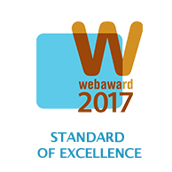 "the 2017 WebAwards ""Standard of Excellence"""