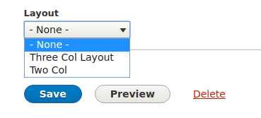 layout selector