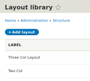 Layout Library Drupal 8 Layout builder