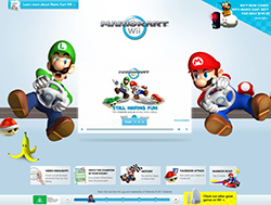 Mario Kart parallax website screenshot.