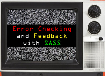 error checking with SASS