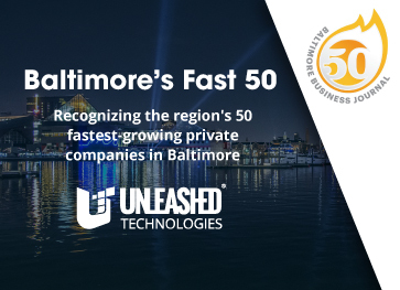 Unleashed Technologies ranks as one of the 50 fastest-growing companies in Greater Baltimore via The Baltimore Business Journal