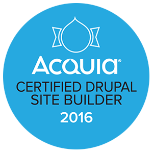 Drupal 8 Site Builder Certification Badge