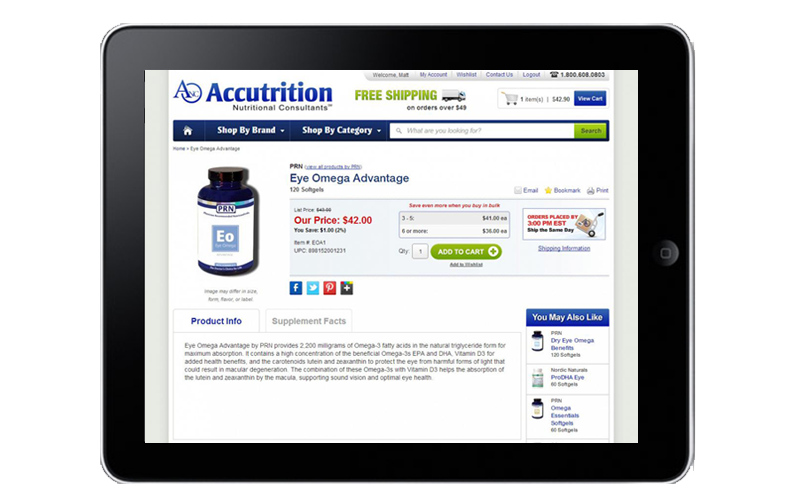 Accutrition Tablet View