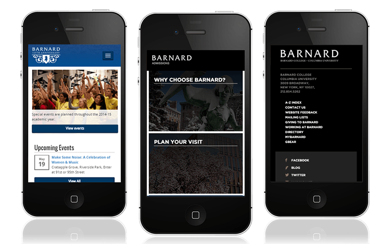 Barnard Mobile View