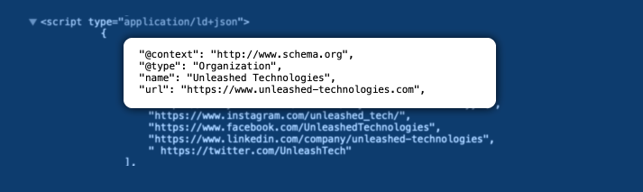 Use Schema markup | Unleashed Technologies