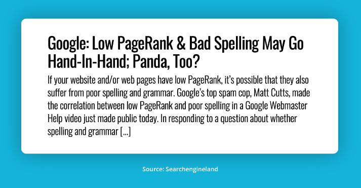 Spelling & Grammatical Errors Headline | Unleashed Technologies