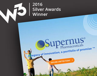 Supernus Pharmaceuticals Site Chosen for W3 Silver Award